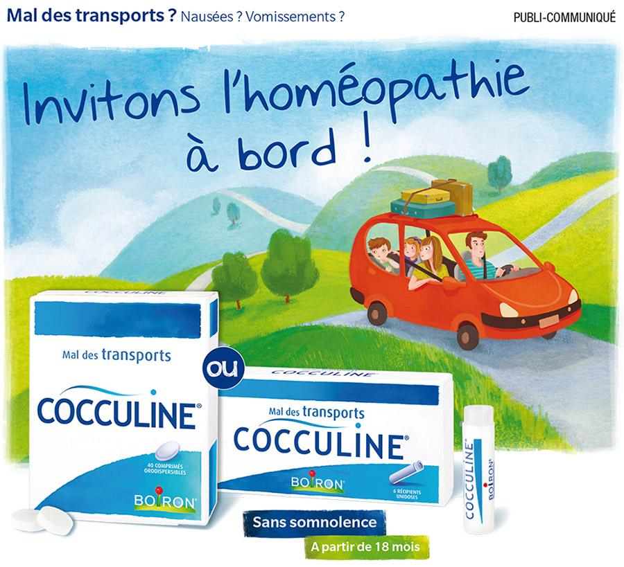 Mal des transports...cocculine sans effets secondaires, adapté à toute la famille